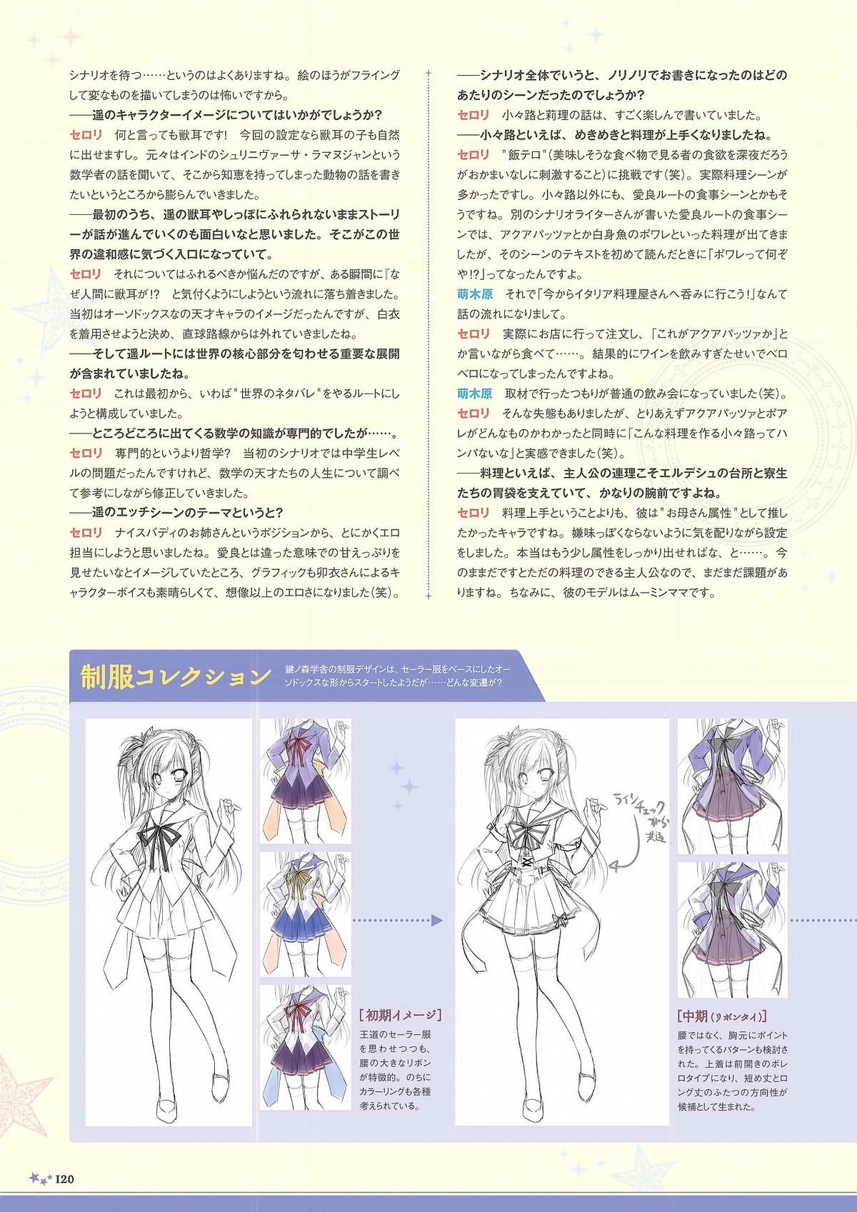 Sekai to Sekai no Mannaka de Visual Fanbook 117