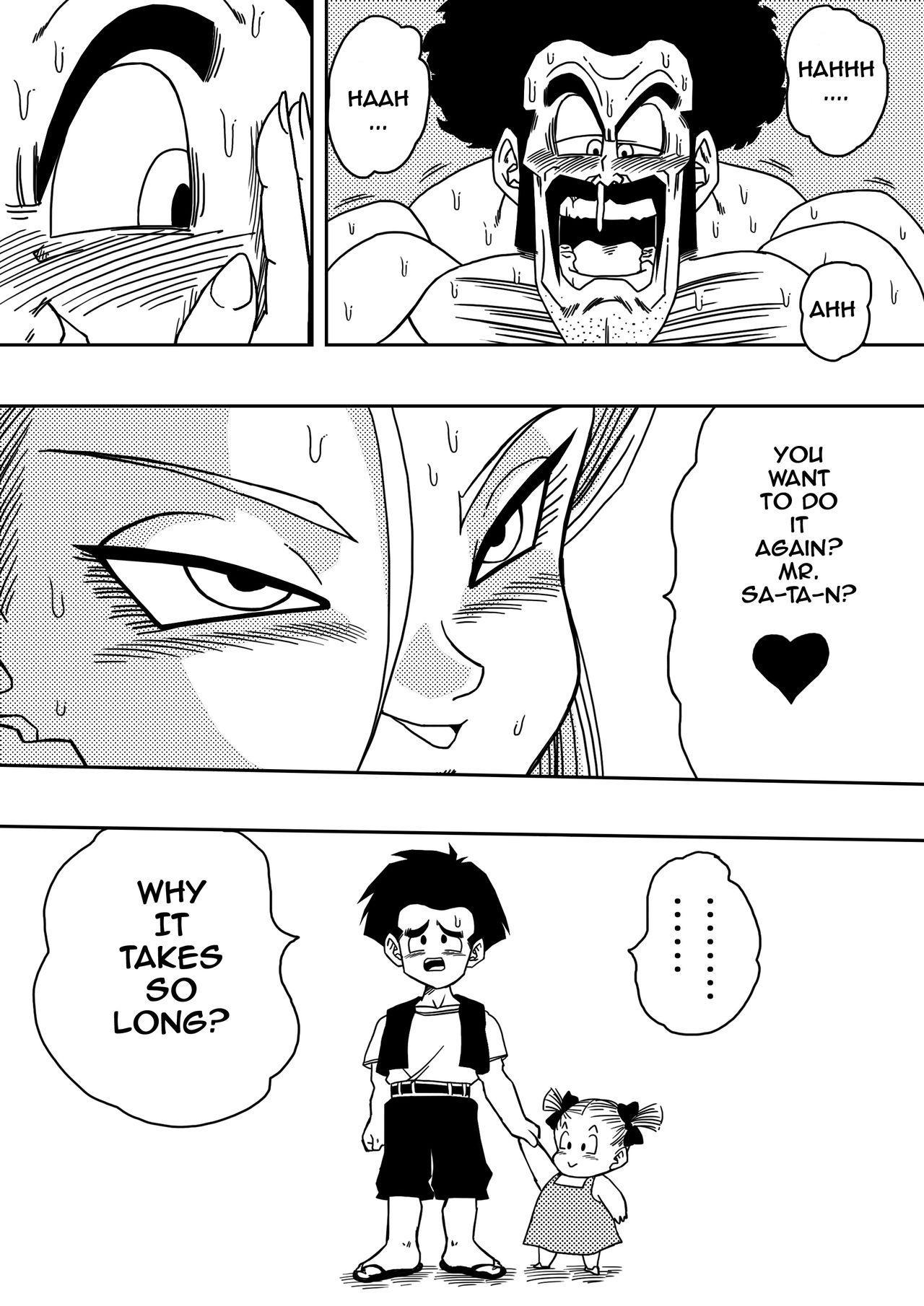 18-gou to Mister Satan!! Seiteki Sentou! | Android N18 and Mr. Satan!! Sexual Intercourse Between Fighters! 13