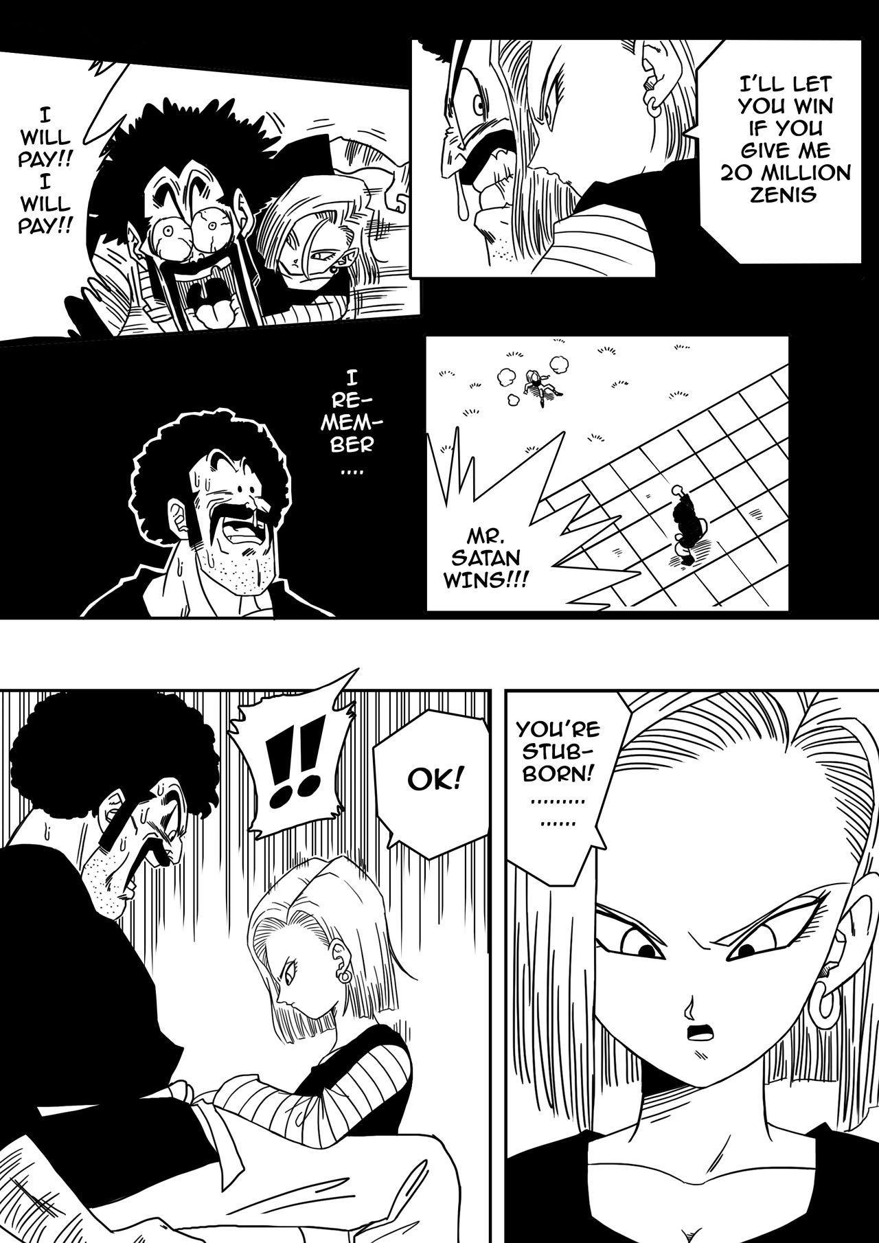 18-gou to Mister Satan!! Seiteki Sentou! | Android N18 and Mr. Satan!! Sexual Intercourse Between Fighters! 3