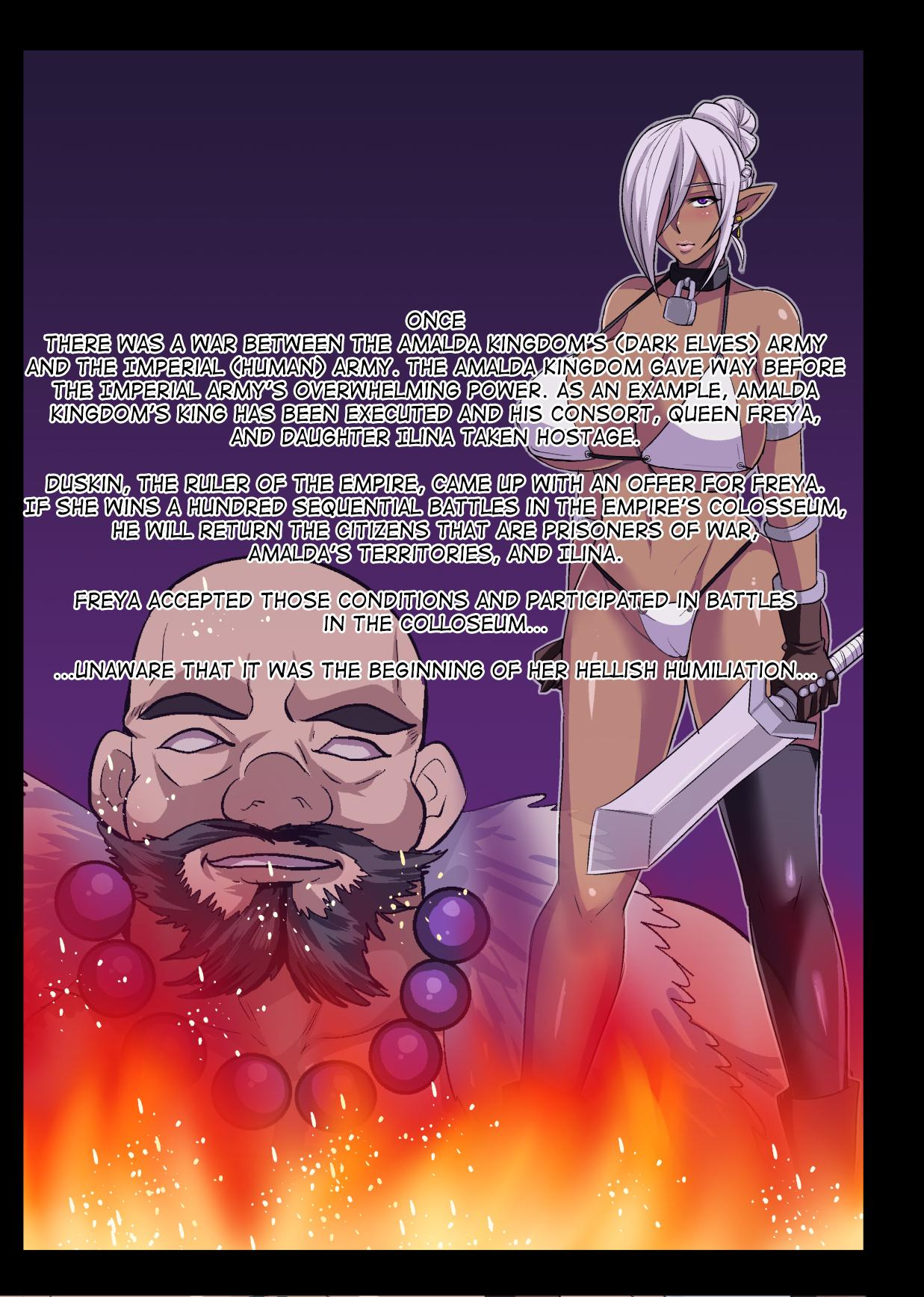 [Houkago Inokorigumi (Nishida Megane)] Dark Elf Queen Freya ~Kutsujoku no Colosseo~   Dark Elf Queen Freya -Colosseum of Humilation- [English] [biribiri] 2