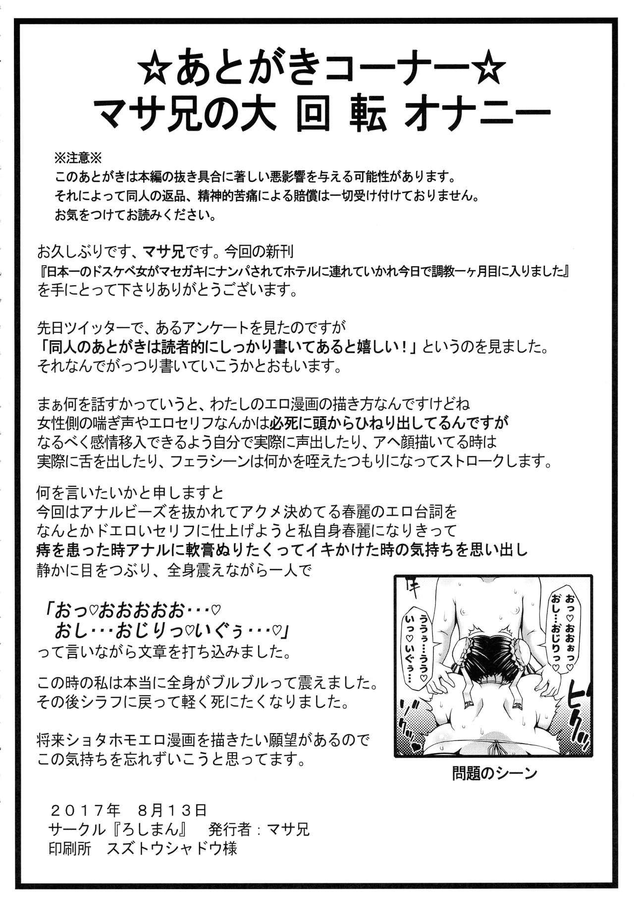 Nihon'ichi no Dosukebe Onna ga Masegaki ni Nanpa Sarete Hoteru ni Ttsurete Ika re Kyou de Choukyou ikkatsuki-me ni Hairimashita 25