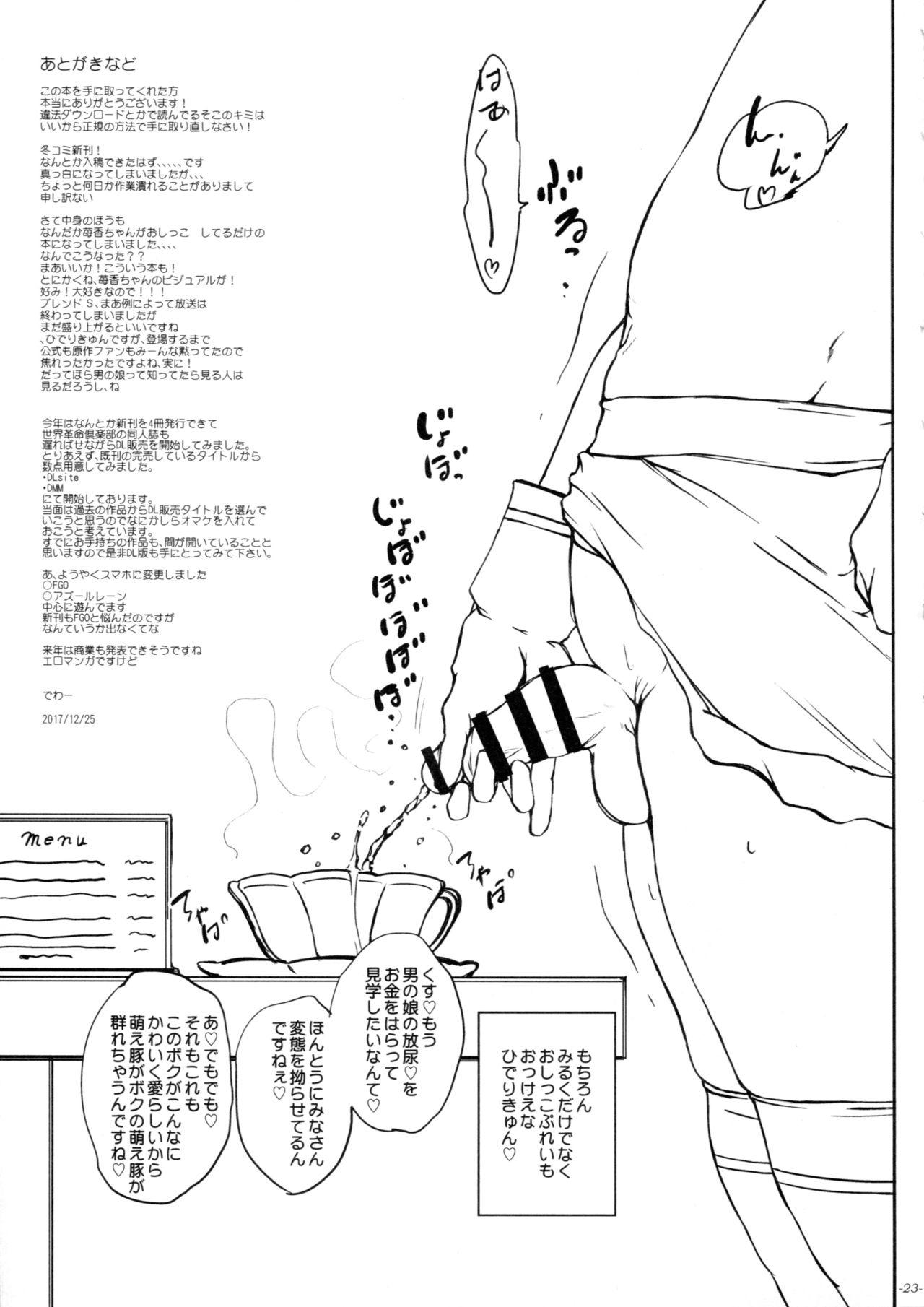 (C93) [Sekai Kakumei Club (Ozawa Reido)] Otou-san, Okaa-san, Ikagawashii Omise de Gomennasai. (Blend S) 23