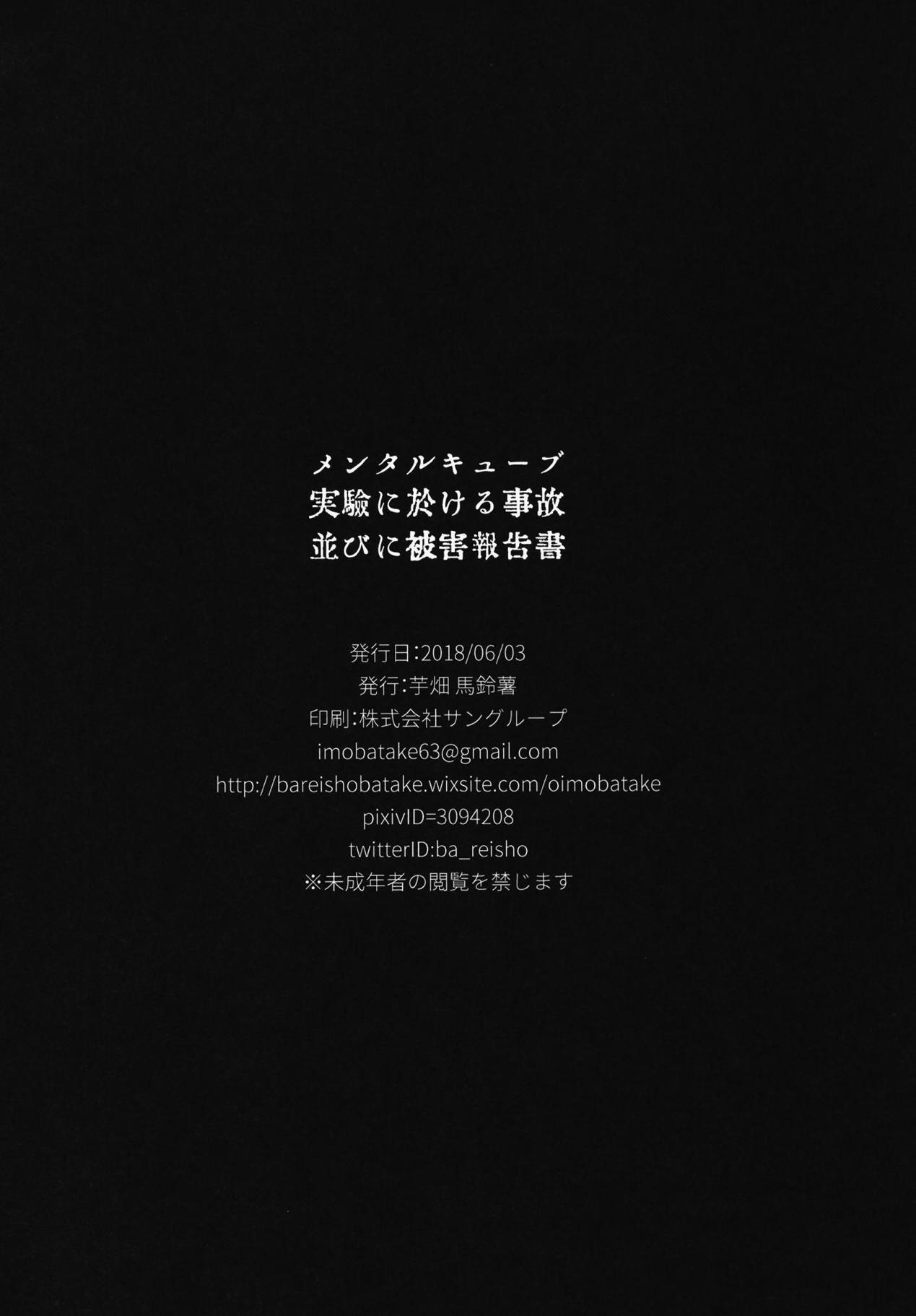 Mental Cube Jikken ni Okeru Jiko Narabi ni Higai Houkokusho 18