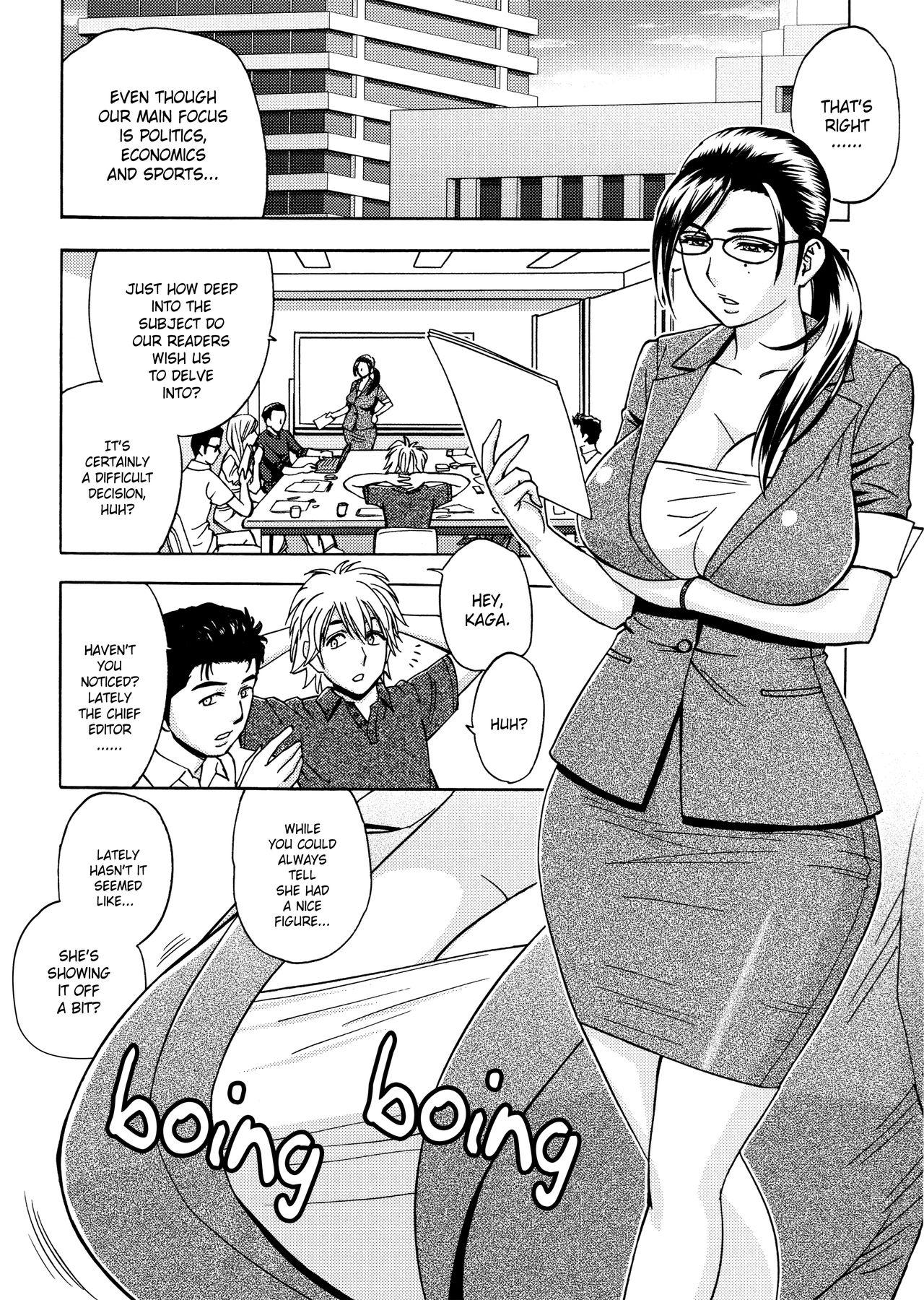 [Tatsunami Youtoku, Yamazaki Masato] Bijin Henshuu-chou no Himitsu | Beautiful Editor-in-Chief's Secret Ch. 1-3 [English] [Forbiddenfetish77, Red Vodka] [Decensored] 25