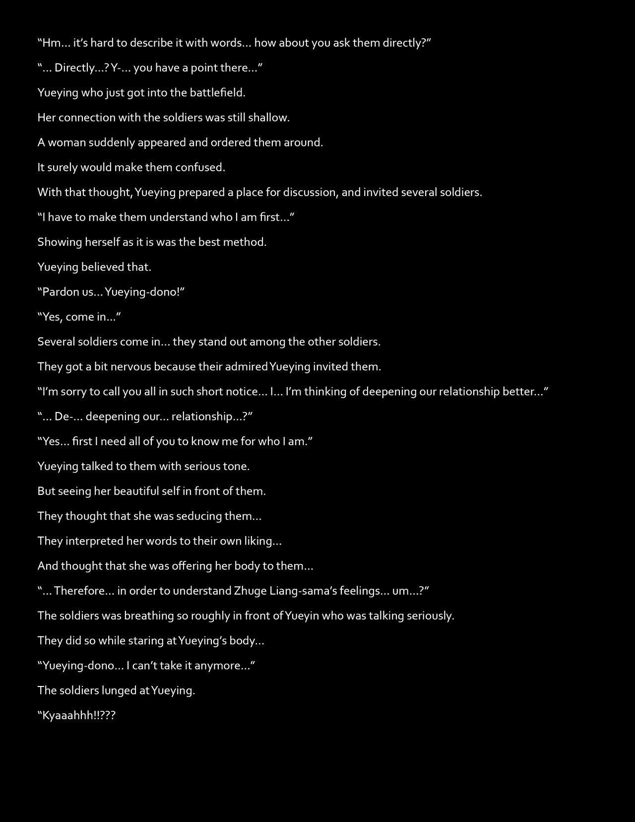 [DEEP RISING (THOR)] Chou Ryoujoku Musou (Dynasty Warriors) Huang Yueying [English] [webdriver] 2