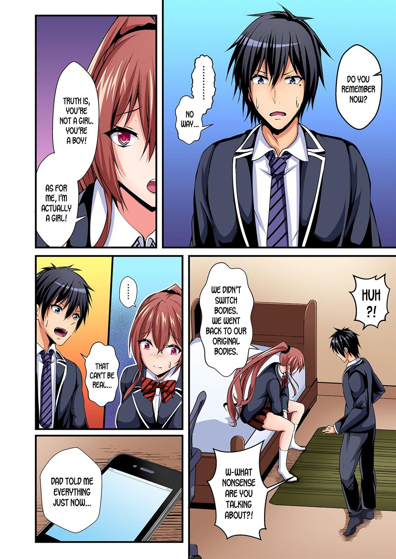 [Suishin Tenra] Irekawatte Dotabata Ecchi! ~Aya-nee no Binkan na Karada ni Ore wa Taerarenai  | Switch bodies and have noisy sex! I can't stand Ayanee's sensitive body 1-6 [English] [desudesu] 104