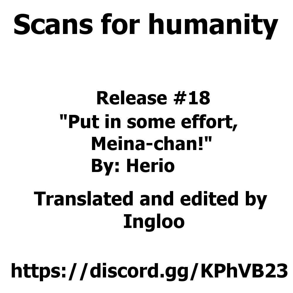 [Herio] Sukoshi wa Ganbare! Meina-chan | Put in some effort, Meina-chan! (COMIC ExE 19) [English] [Scansforhumanity] [Digital] 32