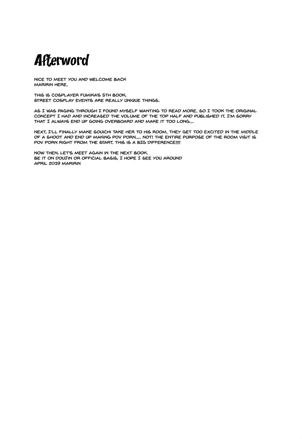 (COMIC1☆15) [SSB (Maririn)] Purupuru Yurasu H-Cup Namachichi Hobo Marudashi Layer Icha Love Rojou CosEve Date | making love to a cosplayer with large swaying h-cup breasts at a cosplay event (Fate/Grand Order) [English] {Doujins.com} 19