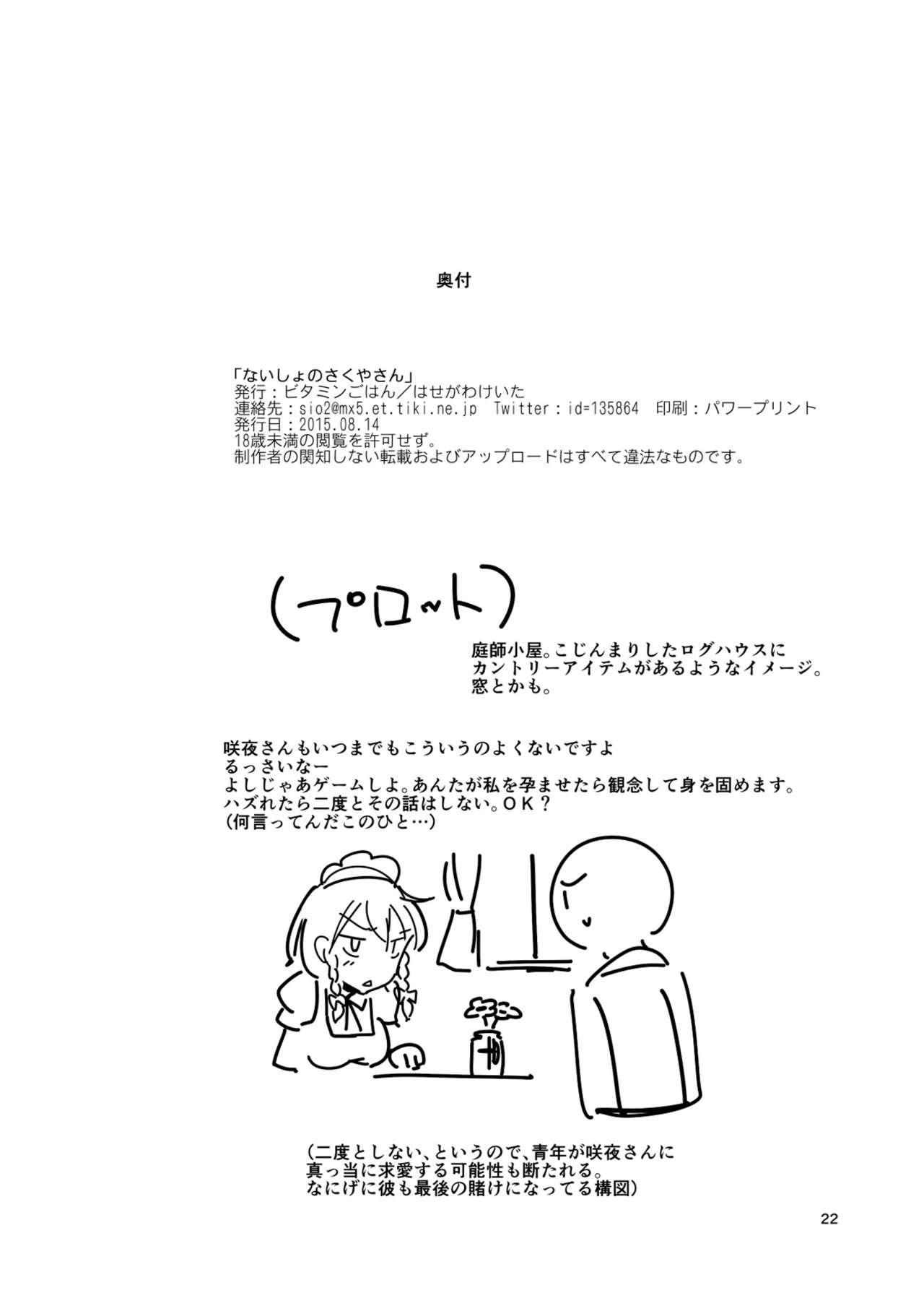 Naisho no Sakuya-san 21